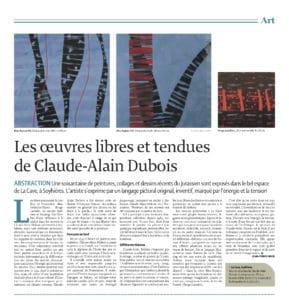 Le Quotidien Jurassien, 10 mai 2014